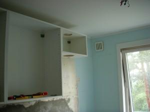 ventilatorstammen henger på veggen